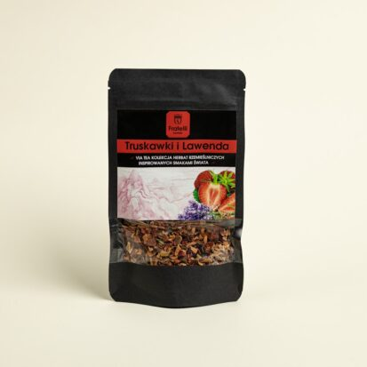 herbata truskawkowa z lawendą
